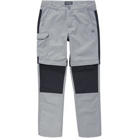 Craghoppers Kiwi Convertible Lapset Pitkät housut , harmaa/musta